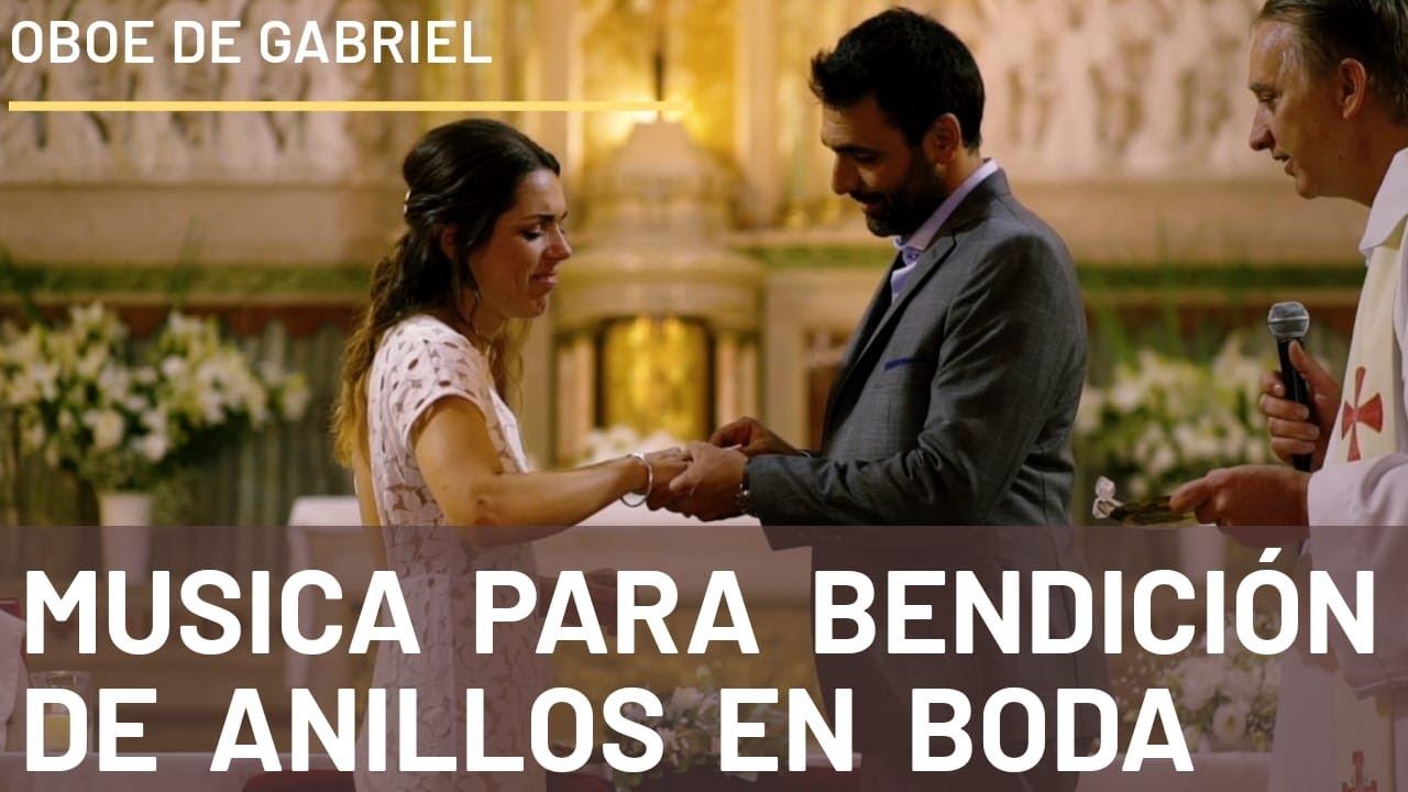 Oboe de Gabriel Bendicion de anillos en ceremonia de casamiento intercambio de alianzas en boda
