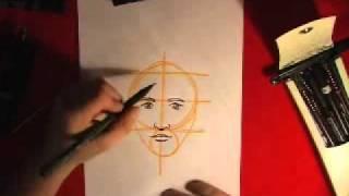 Как нарисовать лицо (для лентяев)(Очень простой видеоурок для тех кто хочет научится рисовать лицо., 2011-03-12T11:35:29.000Z)