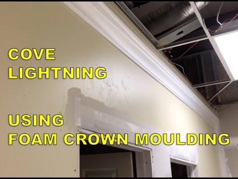 Lighted foam crown moulding