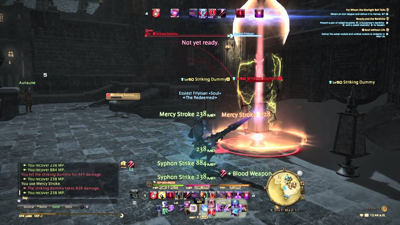 Final Fantasy 14 Flying and log damage text tutorial