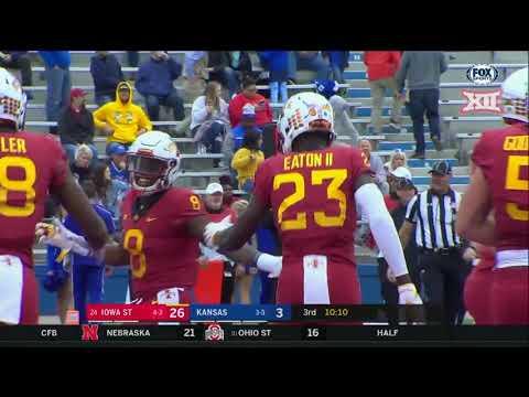 Iowa State vs Kansas Football Highlights