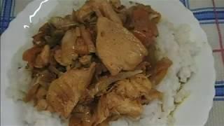 КУРИНАЯ ГРУДКА для ужина с овощами и рисом.