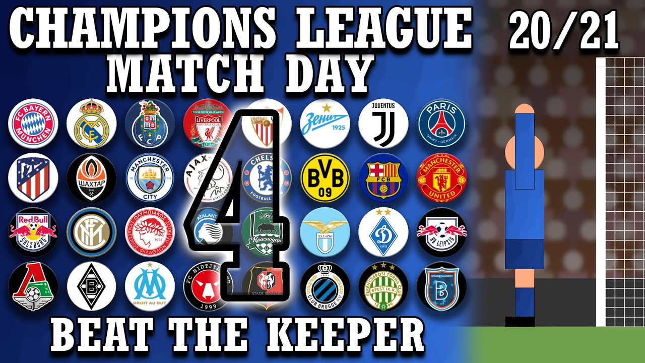 Beat The Keeper - Champions League 2020/21 Group Stages Matchday 4