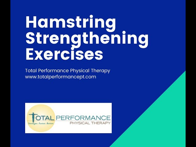 A couple hamstring strengthening exercises that are easy to do at home