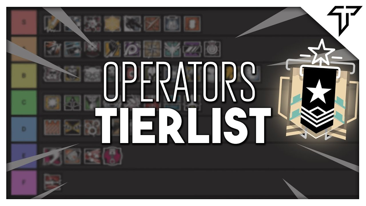 Operator Tier List - Rainbow Six Siege