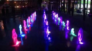 Световой фонтан в Барнауле тц Парад