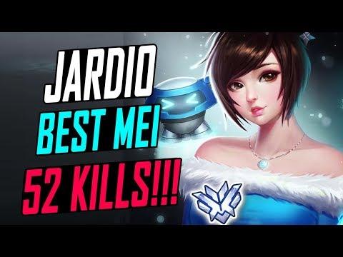JARDIO RANK # 1 MEI! 19 BLIZZARD KILLS! 52 KILLS! [ OVERWATCH SEASON 6 TOP 500 ]
