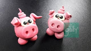 How to make little pig clay | Pig clay tutorial for kids | Clay toys | Clay toys making for kids