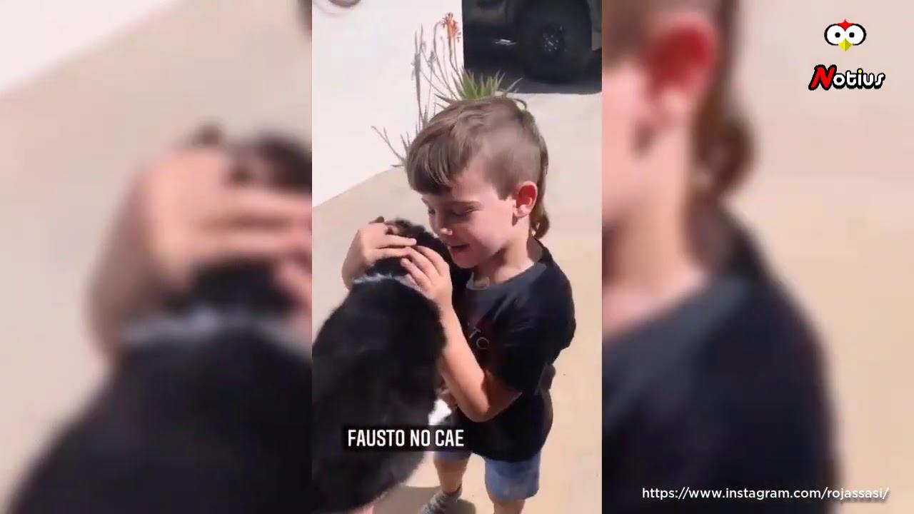 Emoción: Los hijos de Luciano Castro y Sabrina Rojas al recibir su primer mascota