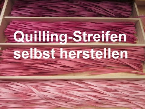 quilling streifen selbst herstellen tutorial youtube. Black Bedroom Furniture Sets. Home Design Ideas