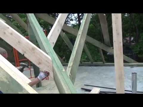 видео: Крыша делаем стропила