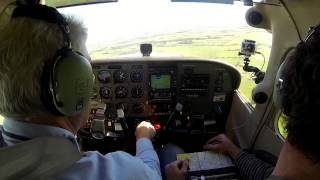 CTAF Leongatha Approach Crosswind Landing 31 August 2013