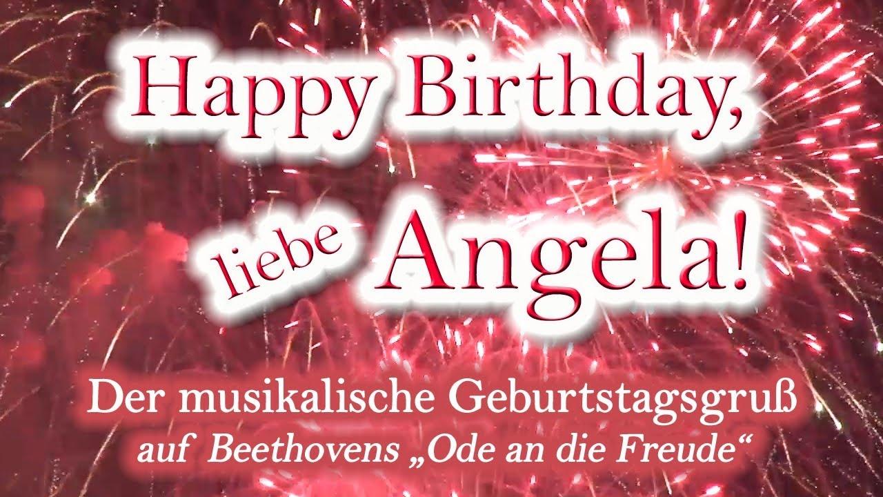 Happy Birthday Angela Birthday Cake