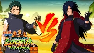 Obito Uchiha vs Madara Uchiha - Naruto Shippuden Ultimate Ninja Storm Revolution