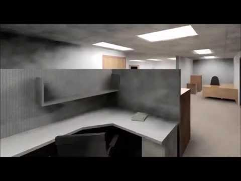 3D Revit Model of Interior Office from LiDAR Point Cloud