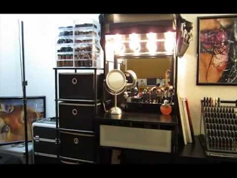 Updated vanity makeup setup amp organization alex unit youtube