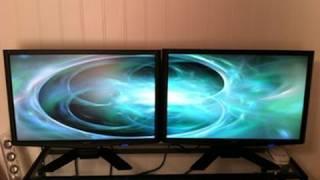 Подвійний установки монітор з Matrox DualHead2Go ДП випуск