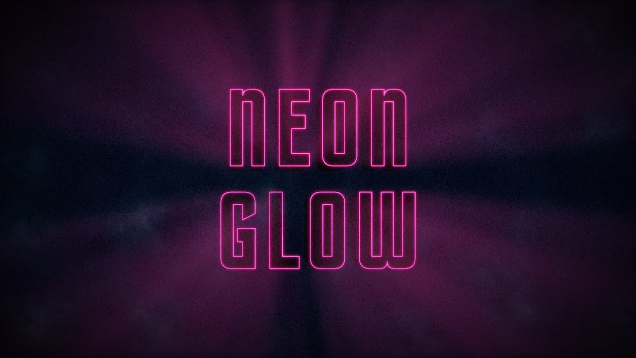 After Effects Tutorial: Neon Glow 80's Title Motion Graphics