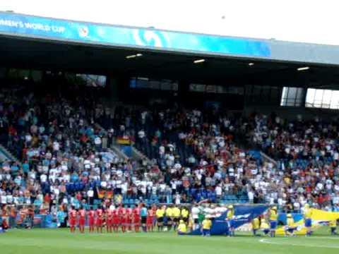 24 july 2010 FIFA U20 Bochum, Germany football/soccer Germany-DPRK - German anthem