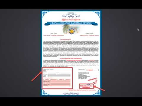 how to get a free travel certificate free vacation certificates