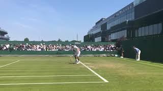 錦織圭、全英テニスオープン一回戦マッチポイント。Kei Nishikori Wimbledon 1st round match point!
