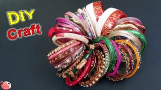 10 Old Bangle Reuse Craft Ideas || DIY Best Out of Waste 2019 || Handmade Things