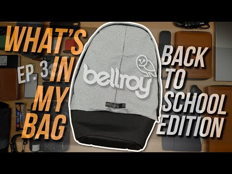 What's In My EDC/College Bag Ep. 3 - Bellroy Classic Backpack Plus Review