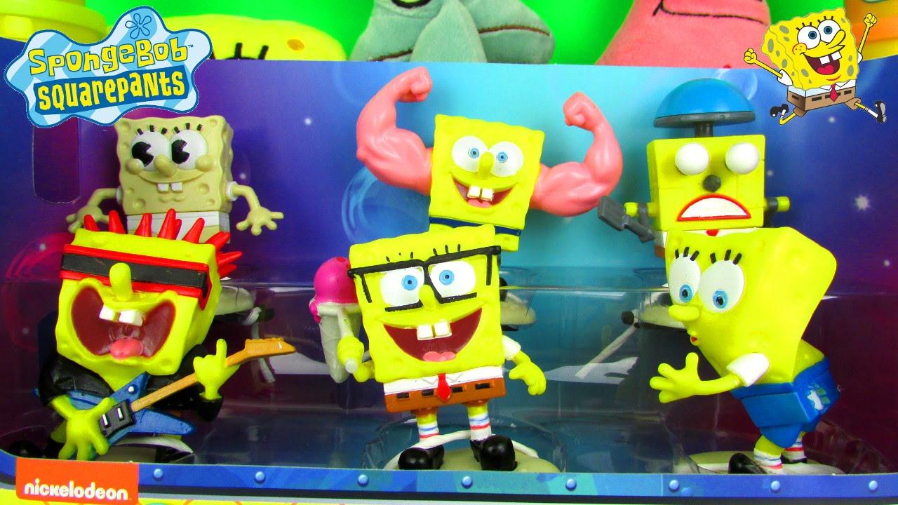 spongebob squarepants hall of fame figure set fun toy review for kids with patrick u0026 spongebot youtube - Spongebob Bedroom Set
