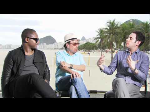 Taio Cruz and Sergio Mendes talk about the music of 'Rio' with Andrew Freund