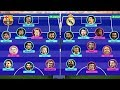 Barcelona vs Real Madrid - Potential Lineup Next Season 2019/20 | AI vs AI