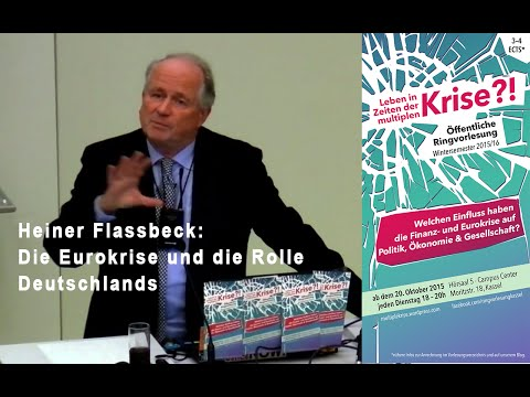 Heiner Flassbeck: Die Eurokrise und die Rolle Deutschlands – Musterland der Eurozone? 2015