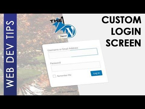 Customize WordPress Login Screen Without Plugins
