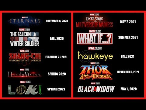 Marvel Phase 4 Officially Announced and explained !!! - 동영상