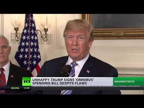 Shutdown Averted: 'Unhappy' Trump signs omnibus spending bill despite flaws