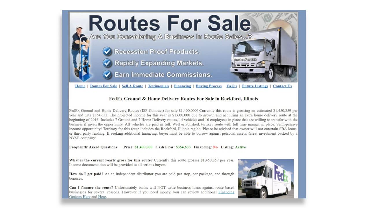 fedex.routes.for.sale.buy.fedex.routes.businesses.at | search