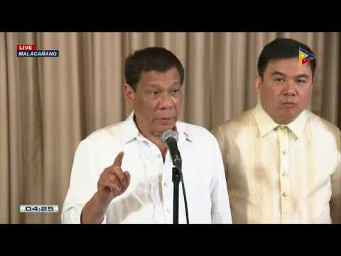 PRRD answers questions from the media after his meeting with Castillo family