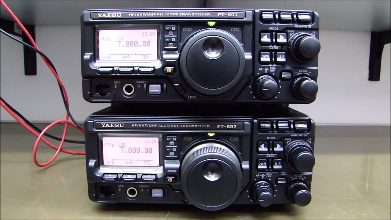 ALPHA TELECOM: DOIS YAESU FT-897D PARA TROCA DE DISPLAY, REVISÃO e LIMPEZA