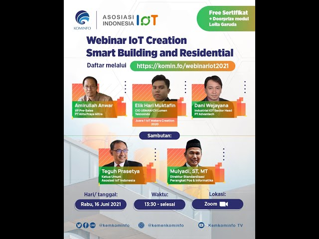 Webinar IoT Creation Smart Building and Residential