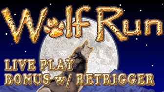 Wolf Run - live play w/ nice bonus with retrigger - Slot Machine Bonus