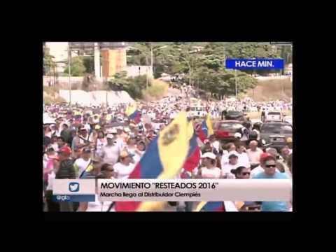 Recorrido marcha mujeres resteadas en Caracas