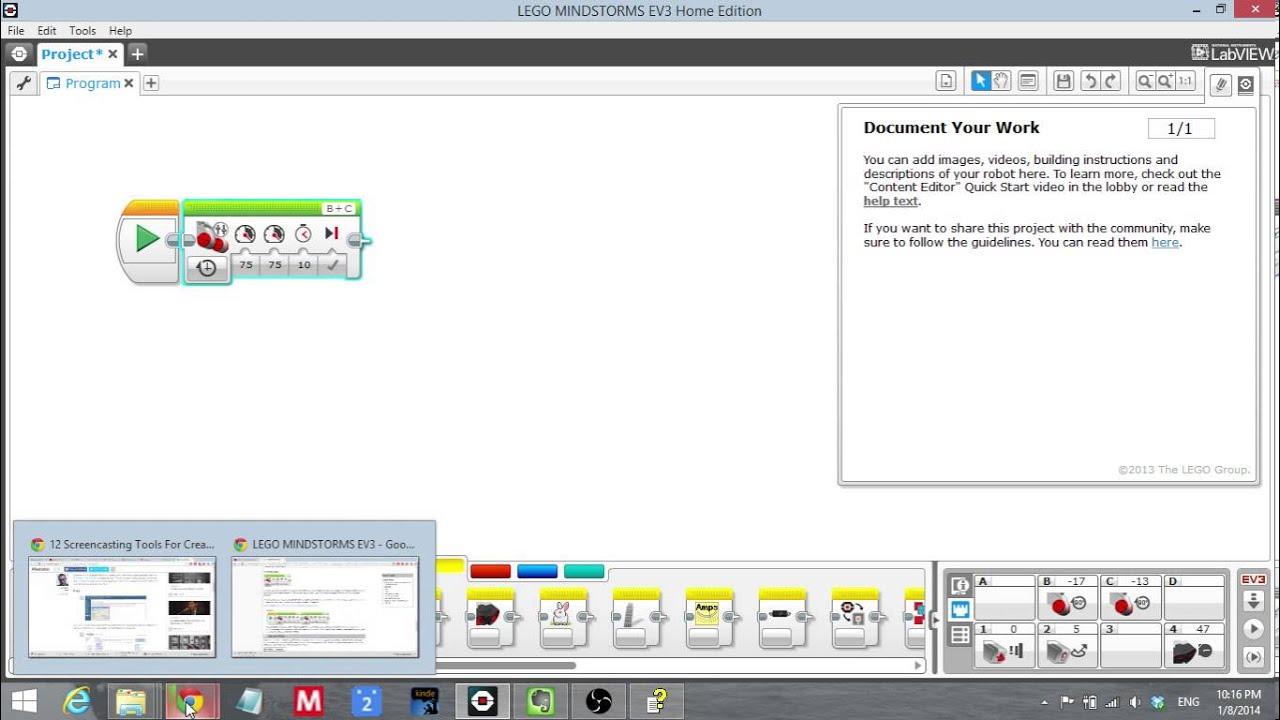 Lego Mindstorms EV3 Programming Quick Start Guide - YouTube