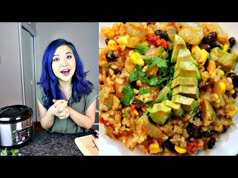 EASY MEAL IN A RICE COOKER - Cook With Me! (Vegan Mexican Style Rice)