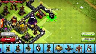 Clash Of Clans -- TH10 Hybrid Base Build (275 Walls)