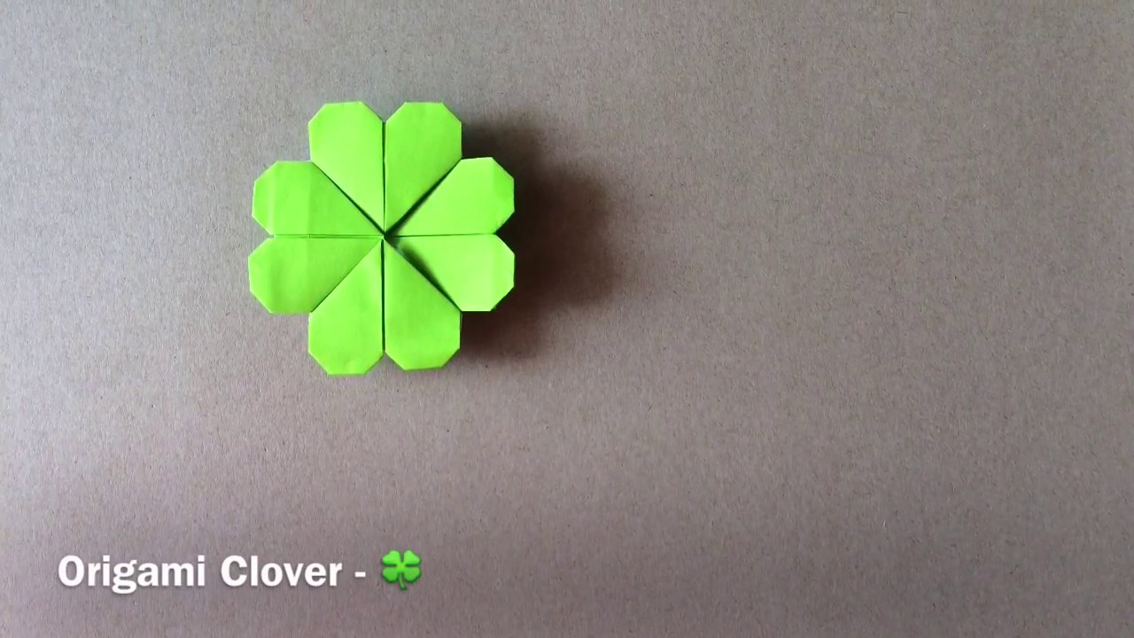 origami clover youtube