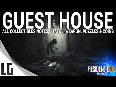 Resident Evil 7 - Guest House Collectibles Guide (Items, Weapons, Statues, Notes, Antique Coins)