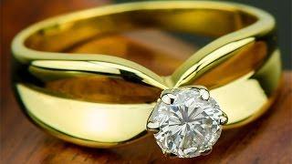 Золотое кольцо с бриллиантом 0.43 карат(, 2013-10-29T07:57:22.000Z)