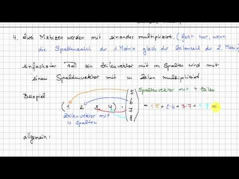1 2 matrizenrechnung lineare algebra. Black Bedroom Furniture Sets. Home Design Ideas