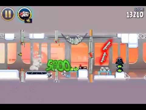 Cloud City 4-20 Angry Birds Star Wars 3 Stars Walkthrough level 20 (final)