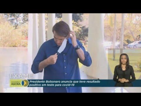 Bolsonaro anuncia que tiene coronavirus y se quita la mascarilla