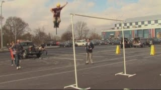 Extreme pogo stick jumping: Watch a Guinness World Record being broken in the US